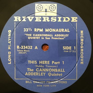 The Cannonball Adderley Quintet - This Here