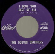 The Louvin Brothers - I Love You Best Of All / Scared Of The Blues