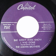 The Louvin Brothers - She Didn't Even Know I Was Gone / My Baby Came Back