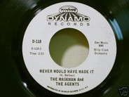 The Maskman And The Agents - There'll Be Some Changes / Never Would Have Made It
