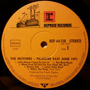 The Mothers Of Invention - Fillmore East - June 1971