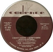 The Chordettes - The Wedding / I Don't Know - I Don't Care (Souvenir D'Italie)