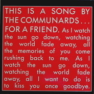 The Communards - For A Friend