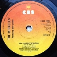 The Miracles Featuring Billy Griffin - Spy For Brotherhood