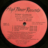 Tony Garcia Featuring Wickett Rich - Don't Let Me Go
