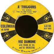 Vic Damone With Frank De Vol And His Orchestra - A' Toujours (Till Always)
