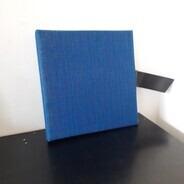 Vintage Schallplattenalbum - in blau, für 12 LPs