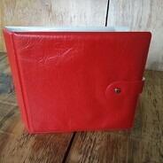Vintage Schallplattenalbum - in rot, für 20 Singles