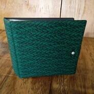 Vintage Schallplattenalbum - mit grün-schwarzem Muster, für 16 Singles