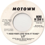 Xit - I Need Your Love (Give It To Me)