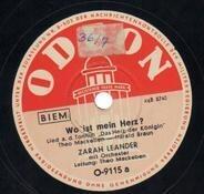 Zarah Leander - Wo ist dein Herz? / Schlummerlied