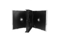 CD Leerbox (Jewel Case) - dick, schwarze Trays