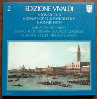 "Antonio Vivaldi - Salvatore Accardo , Jean-Claude Veilhan , Maurice Gendron , Blandine Verlet , Bru - 6 Sonate Op.5 • 6 Sonate Op.13 ""Il Pastor Fido"" • 6 Sonate Op.14"