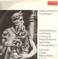 Beethoven - Sonate f Klavier u Violine A-dur op. 47 / Sonate f Klavier u Violine G-dur op. 30 Nr.3