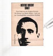 Bertolt Brecht - Bertolt Brecht singt - Zwei Songs aus der Dreigroschenoper