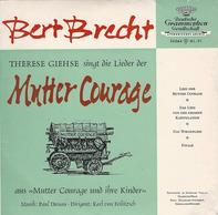 Bertolt Brecht , Therese Giehse , Paul Dessau , Karl Von Feilitzsch - Therese Giese Singt Die Lieder Der Mutter Courage