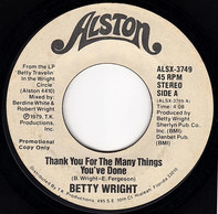 Betty Wright - Thank You For The Many Things You've Done