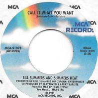 Bill Summers & Summers Heat - Call It What You Want / Your Style Ain't The Way