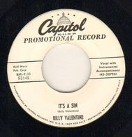 Billy Valentine - It's A Sin / Your love Has Got Me (Reelin' And A-Rockin')