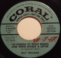 Billy Williams - I'm Gonna Sit Right Down And Write Myself A Letter