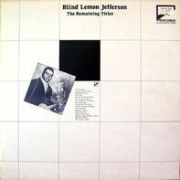 Blind Lemon Jefferson - 1926-29: The Remaining Titles