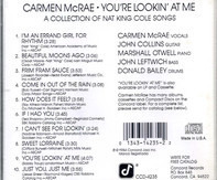 Carmen McRae - You're Lookin' At Me - A Collection Of Nat King Cole Songs