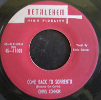 Chris Connor - Come Back To Sorrento / Blame It On My Youth