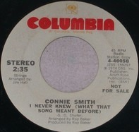 Connie Smith - I Never Knew (What That Song Meant Before)