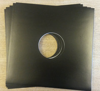 Cover fuer LPs - 10 Stück, Doppelloch (schwarz)