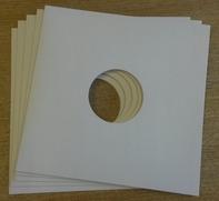 Cover fuer LPs - 10 Stück, Doppelloch (weiß)