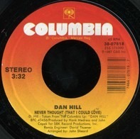 Dan Hill - Never Thought (That I Could Love)
