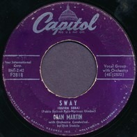 Dean Martin With Dick Stabile And His Orchestra - Sway / Money Burns A Hole In My Pocket