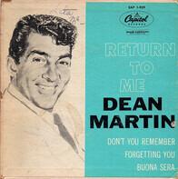 Dean Martin - Return To Me