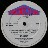 Dice, Floyd Dyce - I Can't Take It