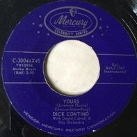 Dick Contino With David Carroll & His Orchestra - Yours / Adios