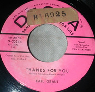 Earl Grant - Thanks For You