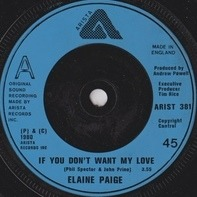 Elaine Paige - If You Don't Want My Love