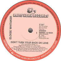 Eloise Whitaker - Don't Turn Your Back On Love