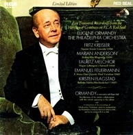 Eugene Ormandy , The Philadelphia Orchestra With Fritz Kreisler , Marian Anderson , Lauritz Melchio - Five Treasured Recordings From The Heritage Of Greatness On RCA Red Seal