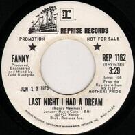 Fanny - Last Night I Had A Dream