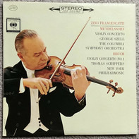 Felix Mendelssohn-Bartholdy / Max Bruch / Zino Francescatti , George Szell , Thomas Schippers - Concerto In E Minor For Violin And Orchestra, Op. 64 / Concerto In D Major For Violin And Orchestra