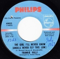 Frankie Valli - The Girl I'll Never Know (Angels Never Fly This Low) / A Face Without A Name