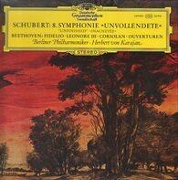 Franz Schubert / Ludwig van Beethoven - Berliner Philharmoniker · Herbert von Karajan - Symphonie »Unvollendete« / Fidelio · Leonore III · Coriolan · Ouverturen
