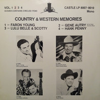 Gene Autry & The Cass County Boys - Country & Western Memories Vol. 2