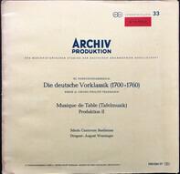Georg Philipp Telemann / Schola Cantorum Basiliensis - August Wenzinger - Musique De Table (Tafelmusik-Banquet Music) - Production II