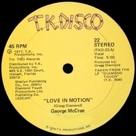 George McCrae - Love In Motion / Givin' Back The Feeling