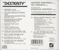 George Shearing With Special Guest Ernestine Anderson - Dexterity