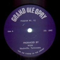 Grand Ole Opry - Grand Ole Opry Program No. 42