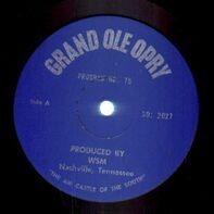 Grand Ole Opry - Grand Ole Opry Program No. 75