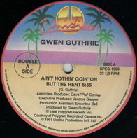 Gwen Guthrie / Junior - Ain't Nothin' Goin' On But The Rent